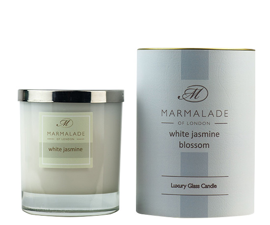 White Jasmin Blossom Large Candle