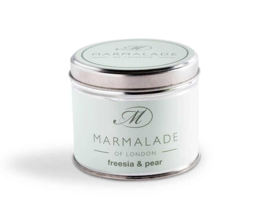 Freesia and Pear Medium Tin Candle