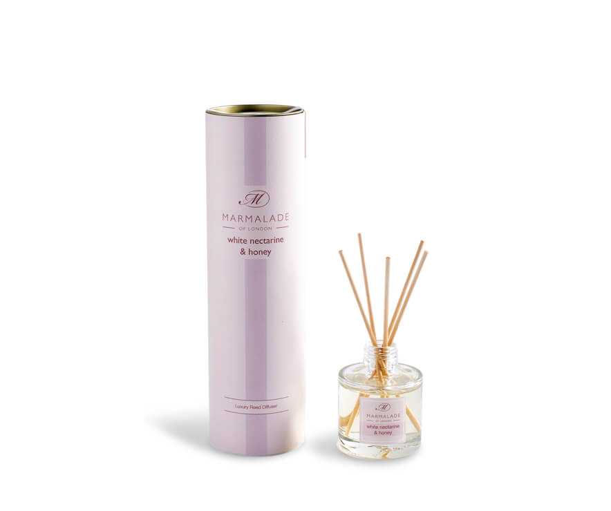 White Nectarine and Honey Travel Reed Diffuser