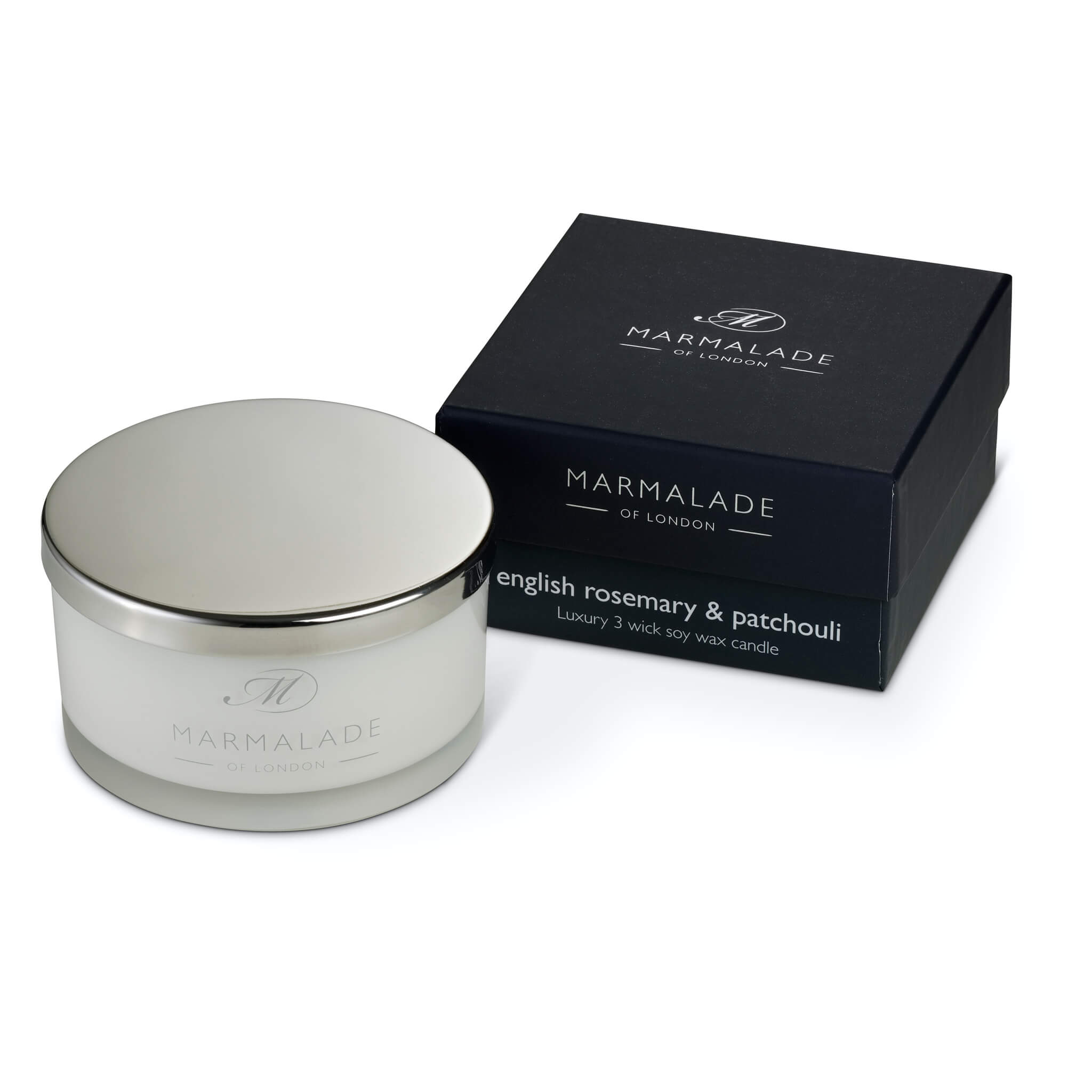 3 wick candle English Rosemary and Patchouli