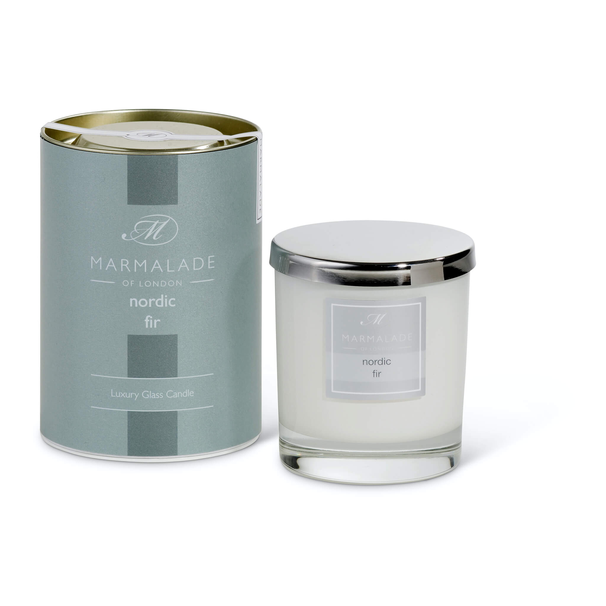 Large Glass Candle - Nordic Fir