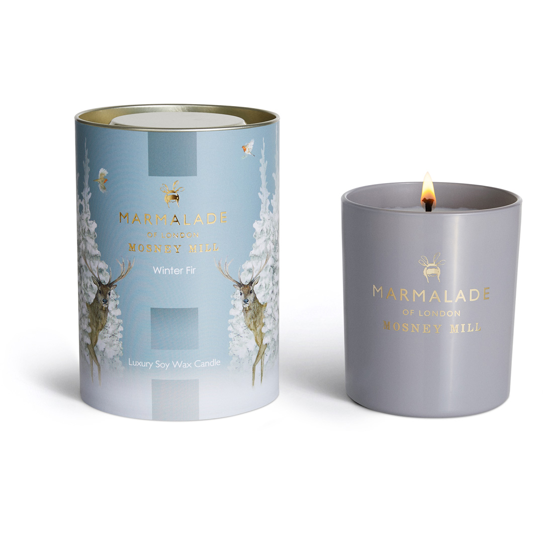 Winter Fir - Large Glass Candle